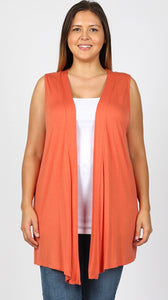 Plus Size Cardigan Vest