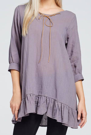 Tunic with Ruffle detail