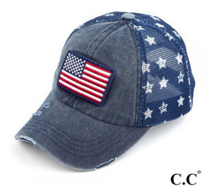 USA Flag Distressed Baseball Cap