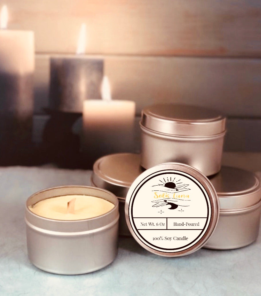6oz Tin Candles