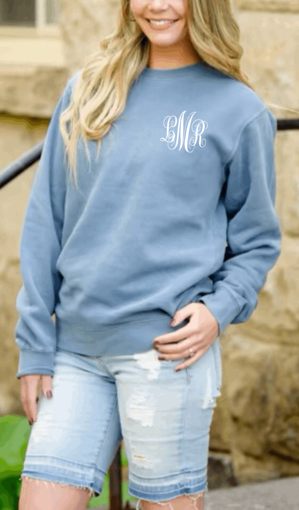 Personalized Comfort Color Sweatshirt