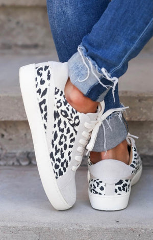 Leopard Patchwork Sneakers