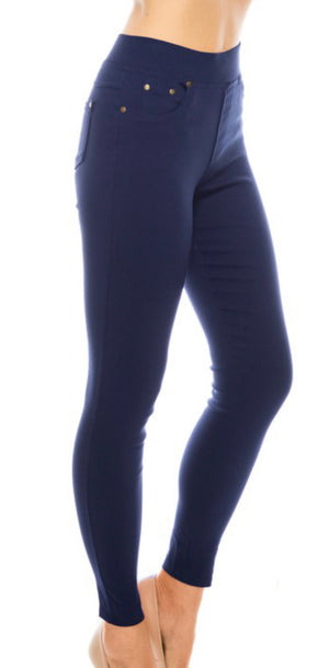 Color 5 pocket Jeggings