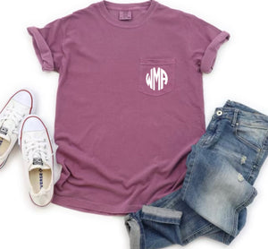 Comfort Color Personalized Pocket Tee