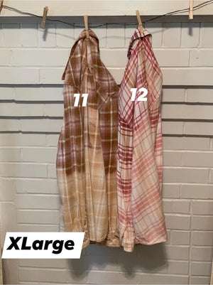 Vintage Distressed Up-Cycled Plaids