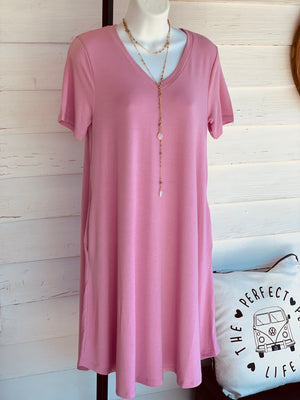 Lily Short Sleeve Pocket Dress