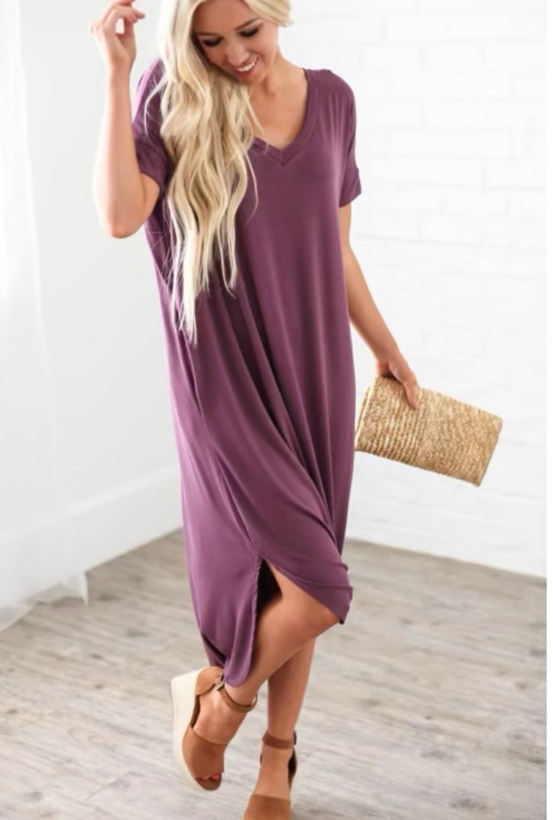Relaxed Pocket Maxi Dress