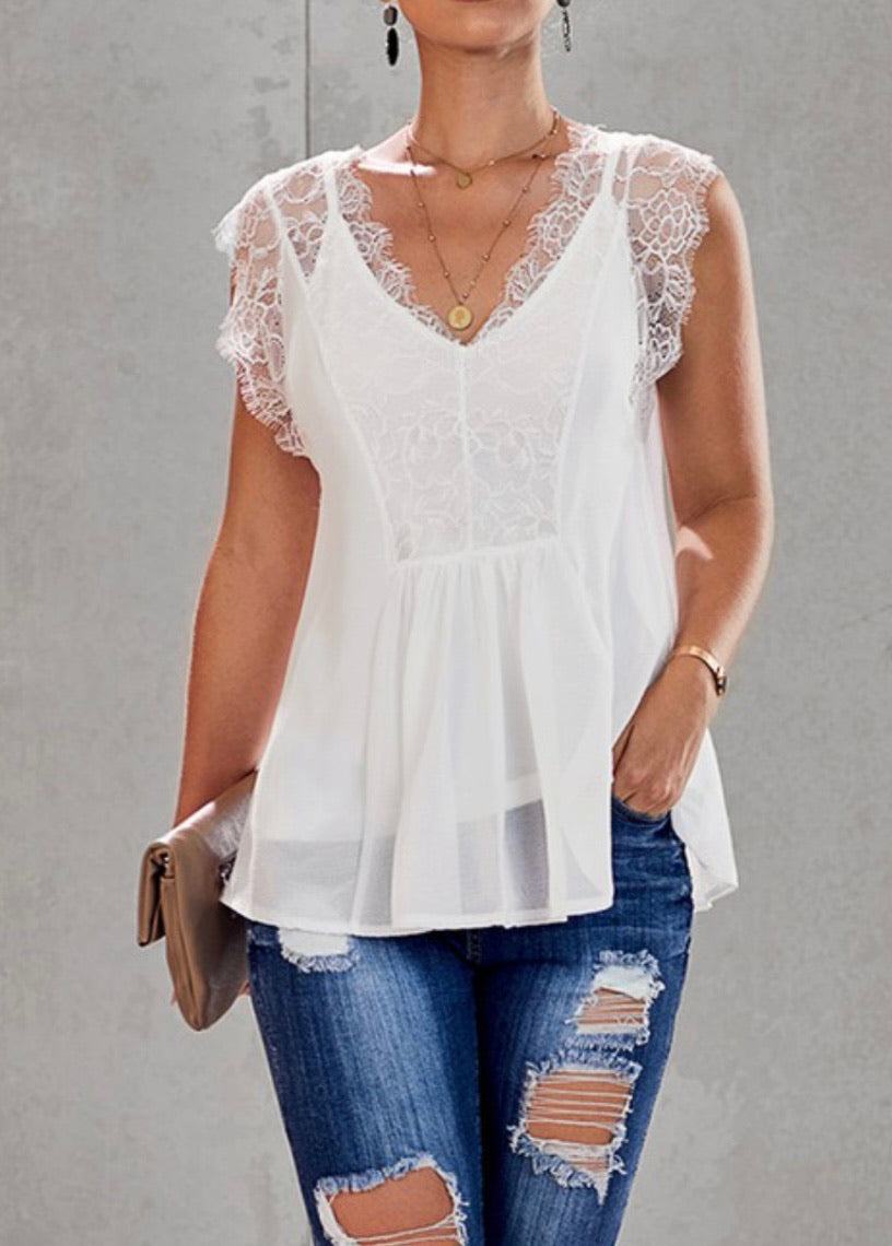 A Dream Lace Tank