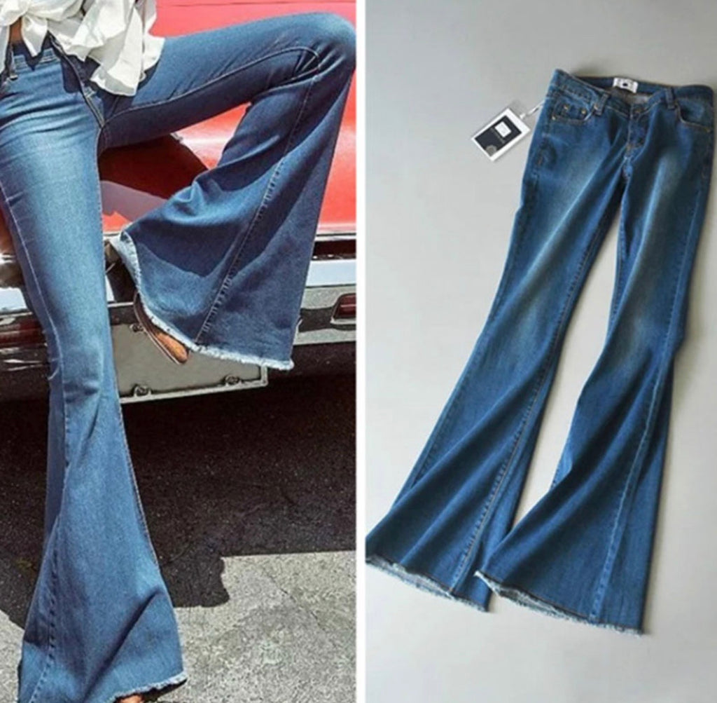 High Waisted Denim Bells