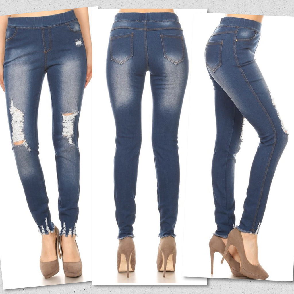 Pull on Denim Jeggings