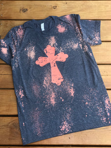 Distressed Cross Tee