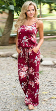 Load image into Gallery viewer, Sleeveless Drawstring Floral Jumpsuit