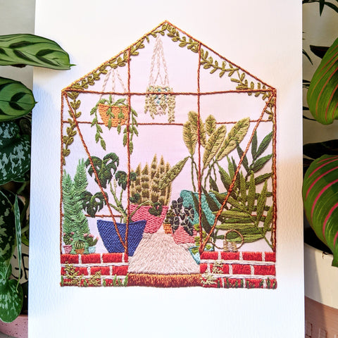 Greenhouse Embroidery Print
