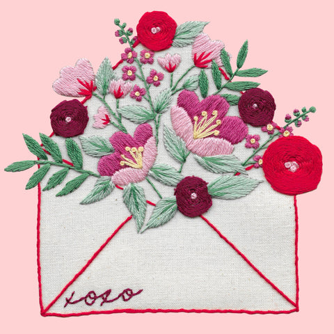 Love Letter Embroidery Kit