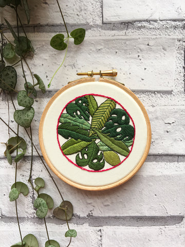 "4"" Leaves on Leaves Embroidery"