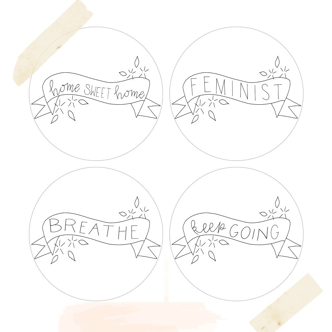 Template + Embroidery Supplies
