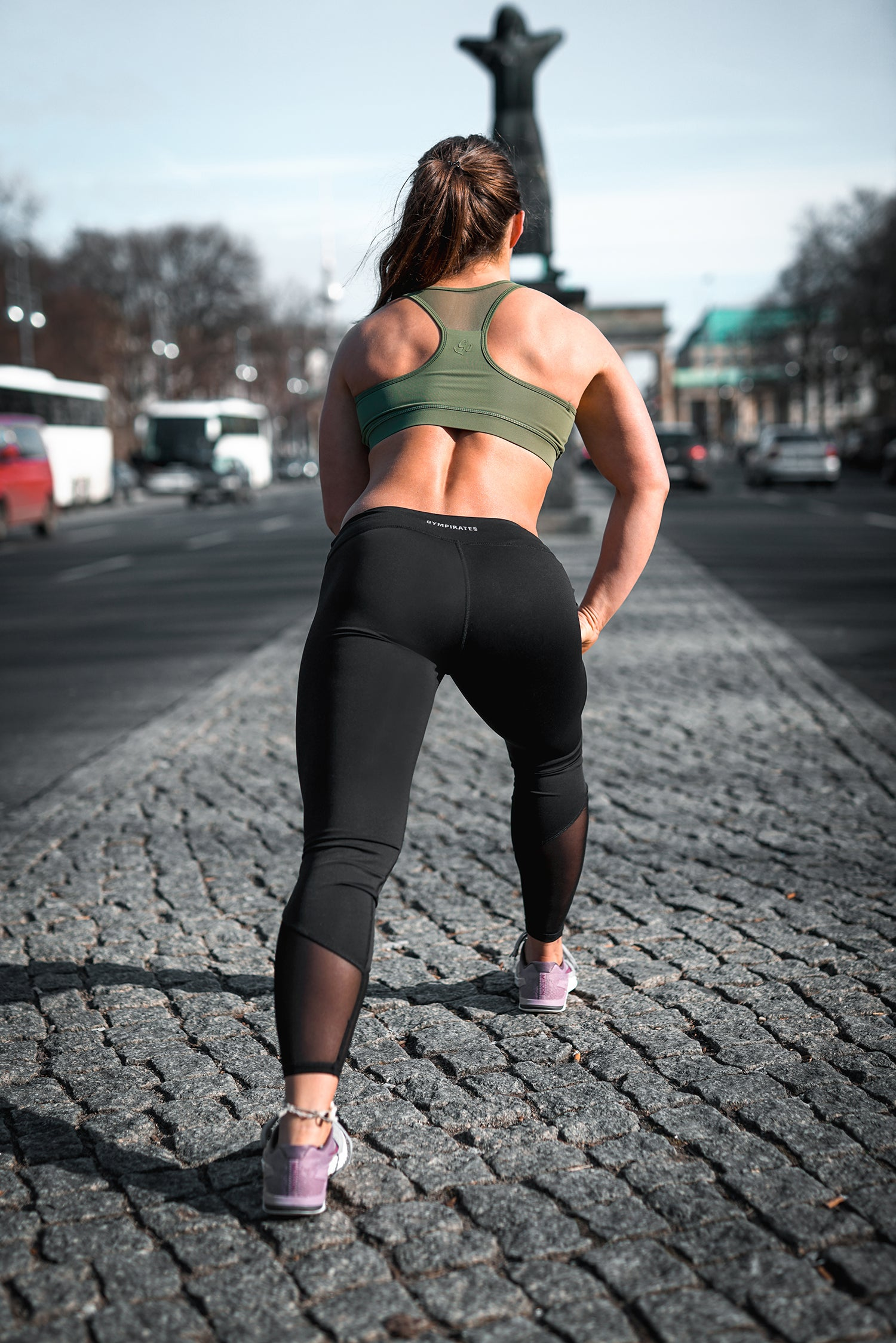 GymPirates Pyramid Black Sport Leggings