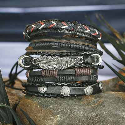 Bracelets - Vintage Multi-Layer Leather Bracelet