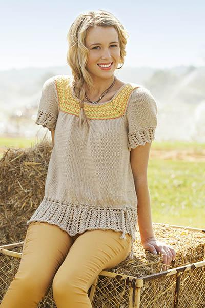 Peasant Top Pattern Universal Yarn