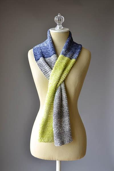 Color Block Scarves Pattern Universal Yarn
