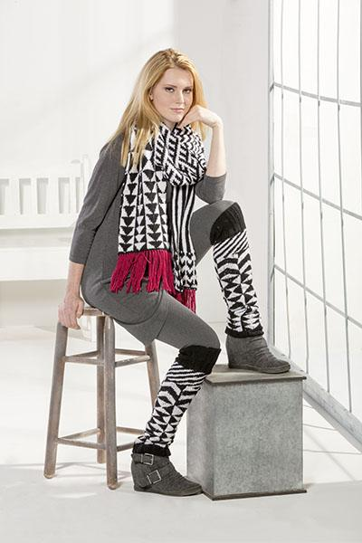Differential Scarf and Legwarmers Pattern Fibra Natura