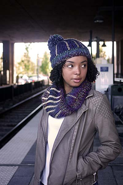 Trade Street Cowls and Hat Pattern Universal Yarn