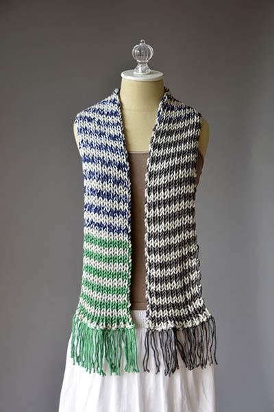 Stripe Magic Scarf Pattern Universal Yarn