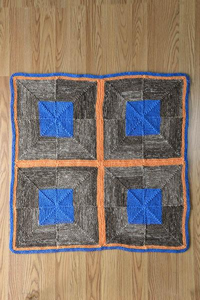 Four Square Blanket Pattern Universal Yarn