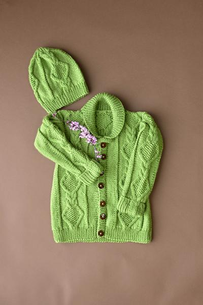 Early Spring Cardigan and Hat Pattern Universal Yarn