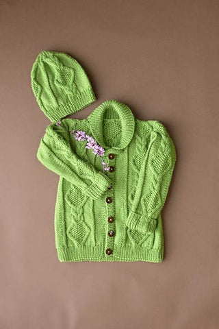 Early Spring Cardigan and Hat