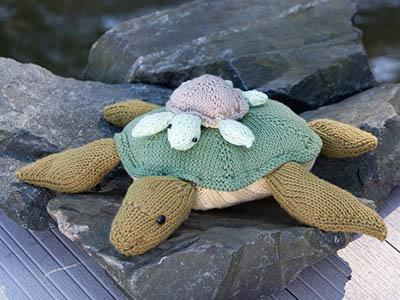 Turtle and Hatchling Pattern Universal Yarn