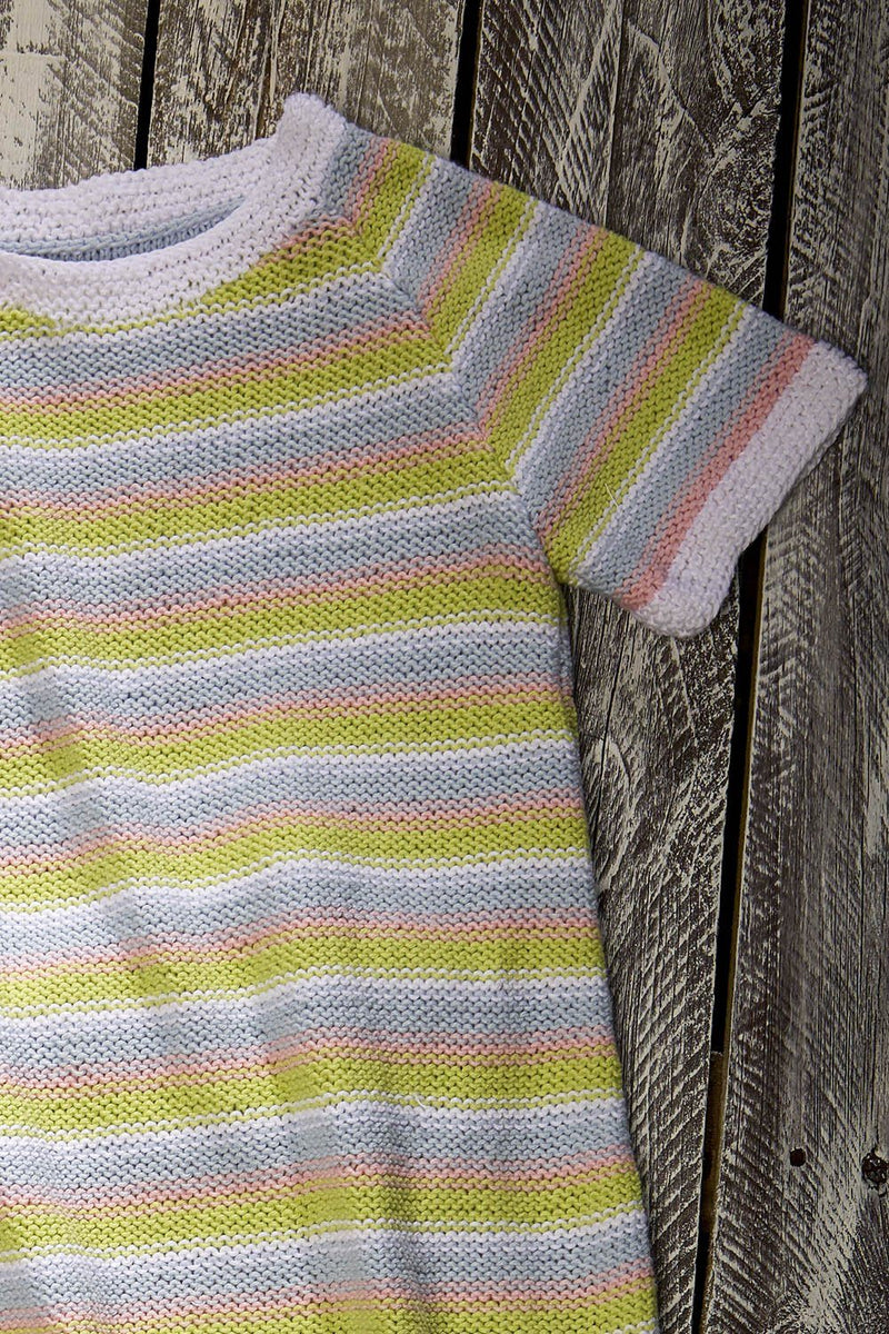 Striped Lily Tee Pattern Fibra Natura