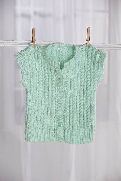 Cabled Cardigan Vest Pattern Universal Yarn