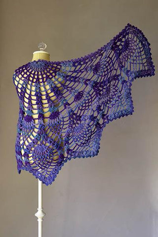 Pineapple Peacock Shawl