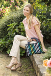 Colored Brick Road Handbag Pattern Universal Yarn