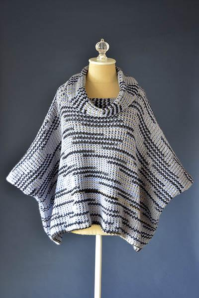 Super Fan Poncho Pattern Universal Yarn