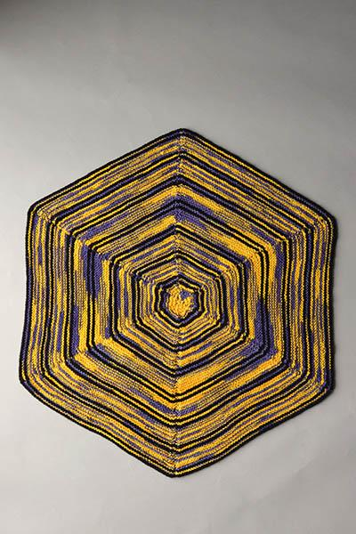 Hexagon Throw Pattern Universal Yarn