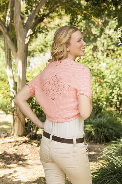 Queen of Diamonds Shrug Pattern Universal Yarn