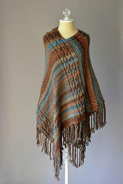 Double Cable Poncho Pattern Universal Yarn