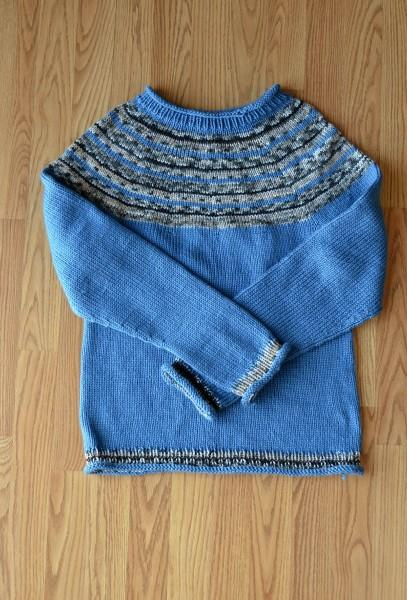 Hers and His Yoke Sweaters Pattern Universal Yarn