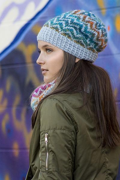Ziggy Hat and Cowl Pattern Universal Yarn