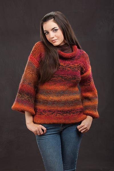 Earth's Mantle Pullover Pattern Universal Yarn