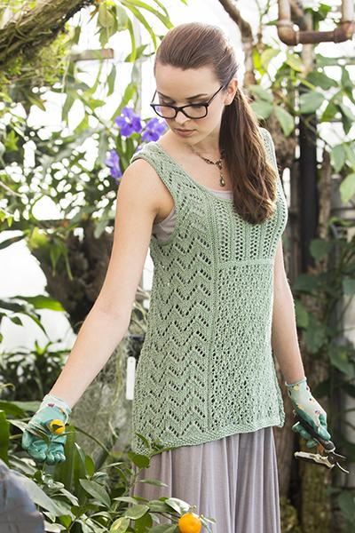 Mixed Lace Tank Pattern Fibra Natura