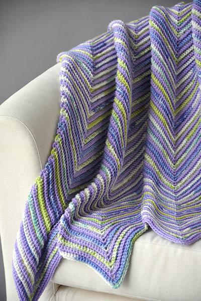 Hills and Valleys Blankie Pattern Universal Yarn