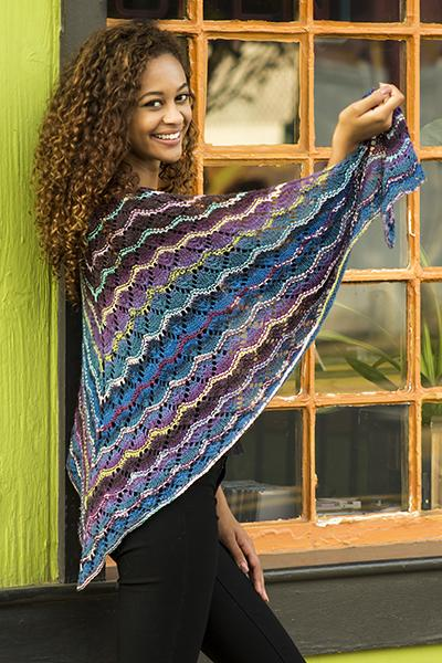 ECSTATIC SHAWL Pattern Wisdom Yarns
