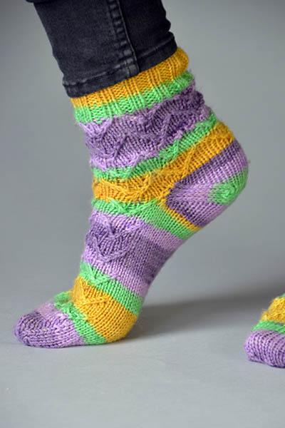 PB and J Socks Pattern Universal Yarn