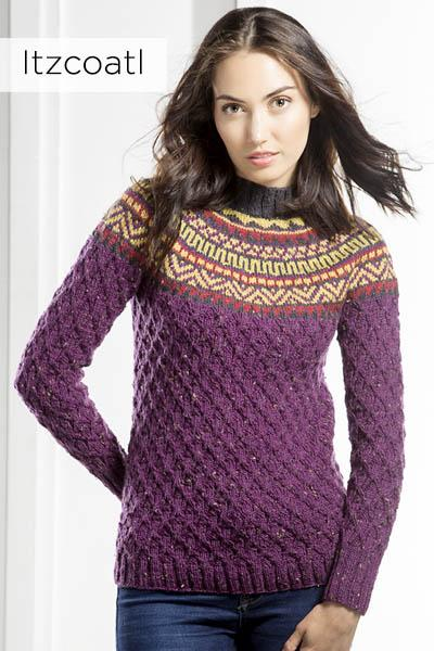 Deluxe Worsted Tweed Superwash: The Aztec Collection Pattern Universal Yarn