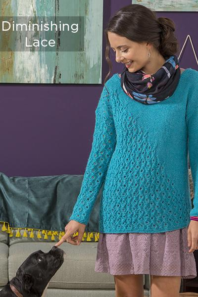 Vibrance in Lace Pattern Universal yarn