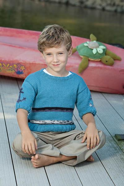 Little Sailor Pullover Pattern Universal Yarn