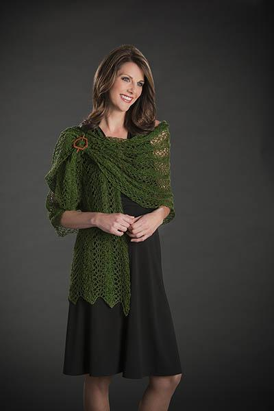 Garden Metallic Lacy Knits Pattern Nazli Gelin